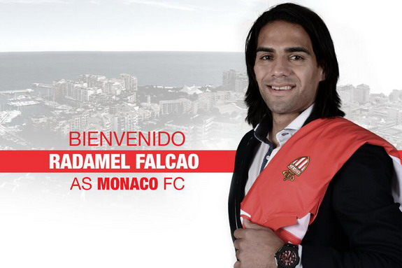 Here is Monaco's welcome message to new signing Radamel Falcao on their website