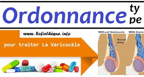Ordonnance Type pour traiter La Varicocèle