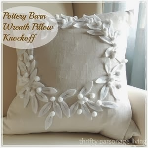 Pottery Barn Wreath Pillow Knockoff