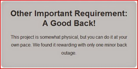 Important Requirement A Good Back graybox