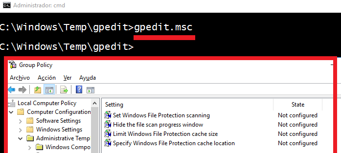no puedo entrar a gpedit.msc windows 10
