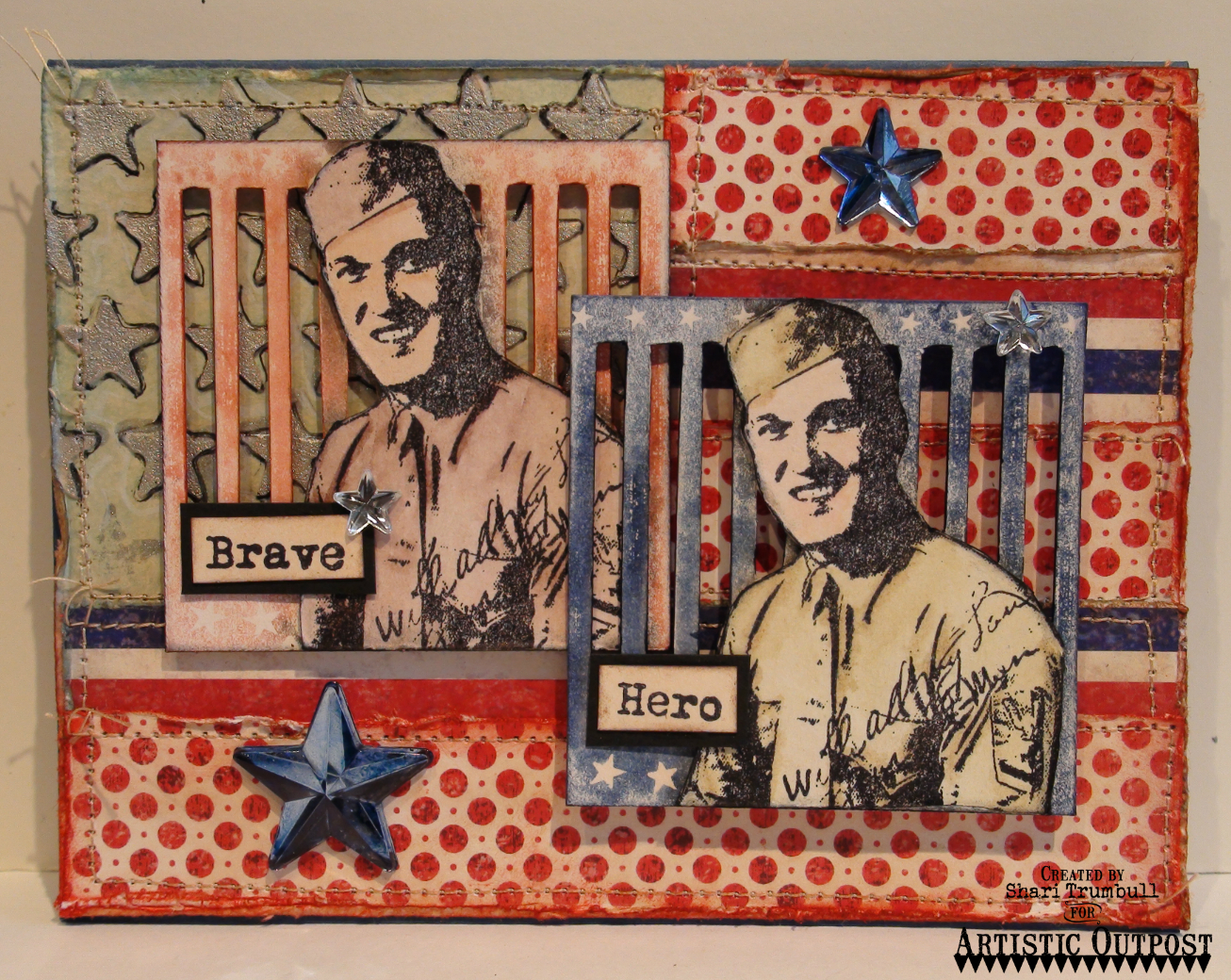 Stamps - Artistic Outpost Hero, Our Daily Bread Designs Patriotic Paper Collection
