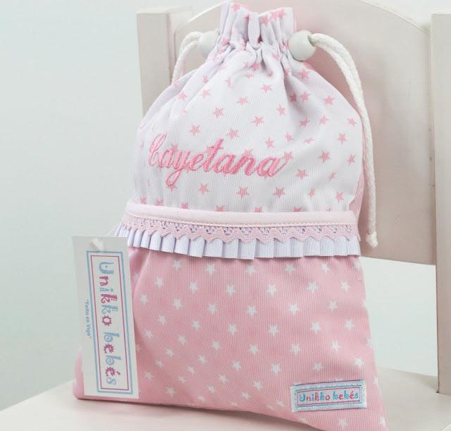 Bolsa merienda estrellitas rosa
