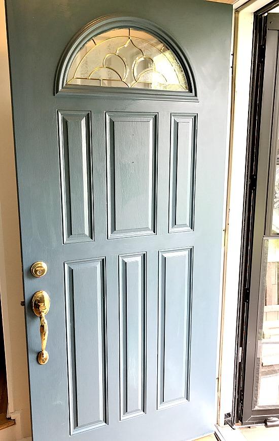 Homestead blue front door