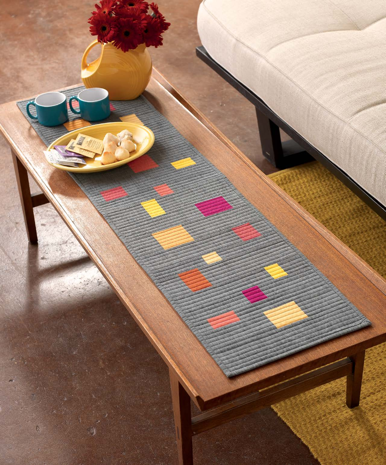Teaginny Designs Scattered Colors Table Runner