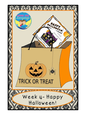 Free Halloween worksheets from Looks-Like-Language