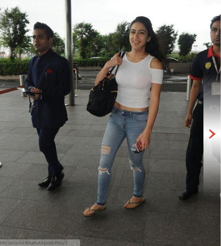 Actress Sara Ali Khan Airport Pics