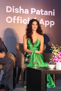 Disha Patani in Beautiful Green Gown at her App Launch 024.JPG