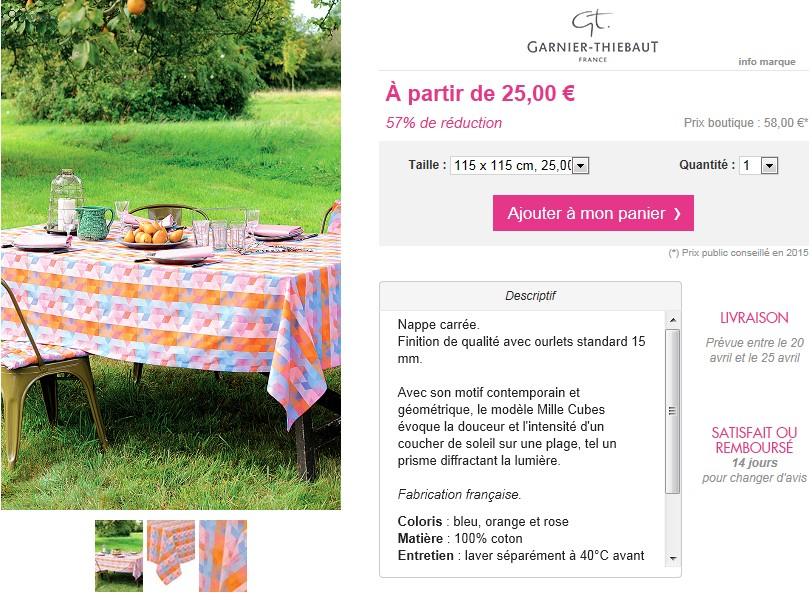 Ventes privees sur internet garnier thiebaud showroompriv - Garnier thiebaut magasin d usine ...