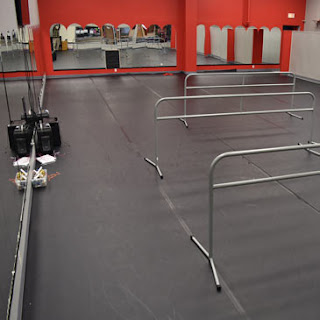 Greatmats Rosco Adagio Marley Dance Floor and Portable Barres at St Cloud School of Dance