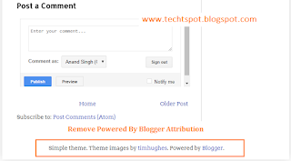 How to Remove Powered By Blogger Attribution with Pictures