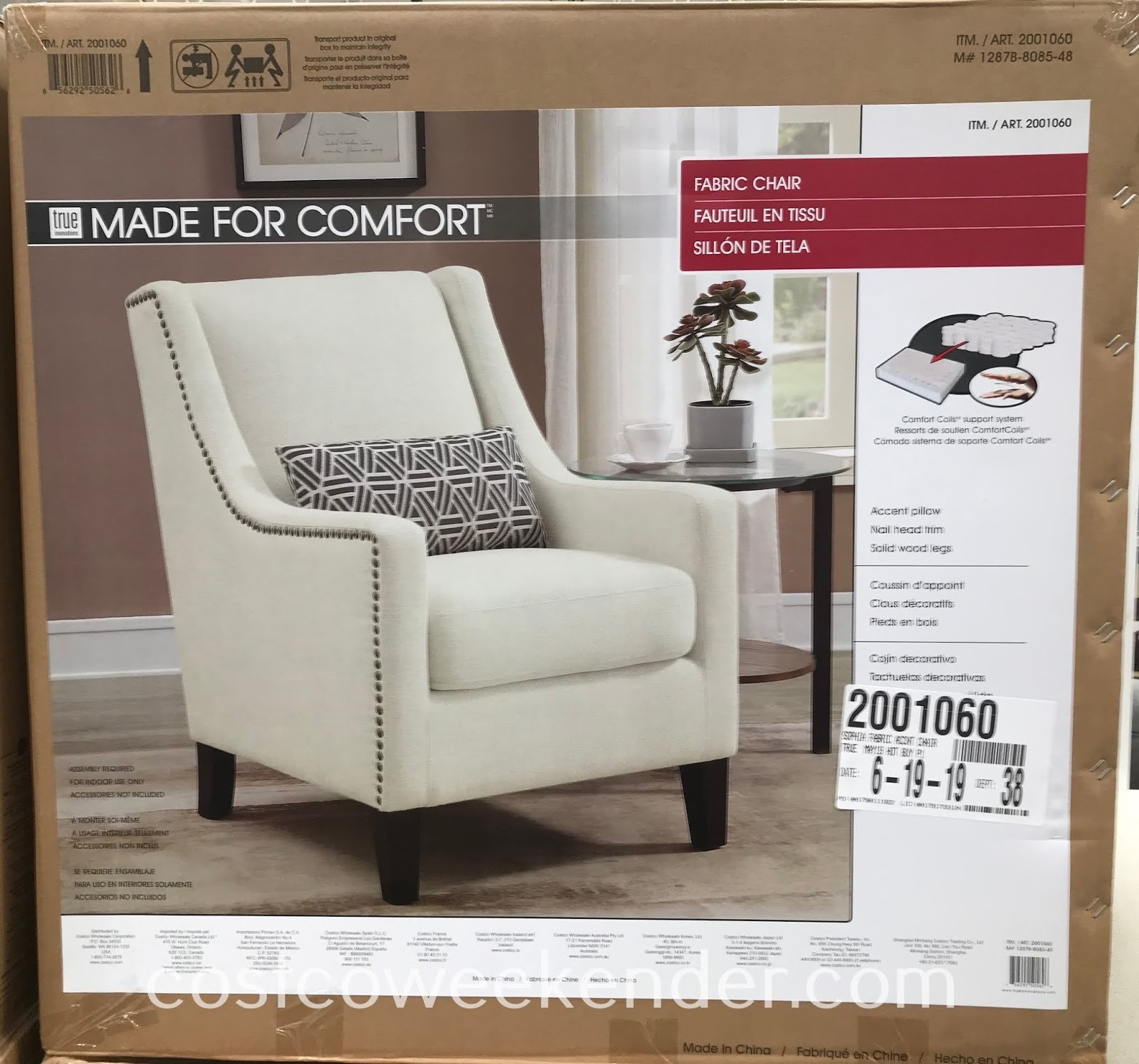 Costco Living Room Chairs: True Innovations Sophia Fabric Accent Chair