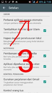 cara mudah dan gampang menghentikan aplikasi android update otomatis