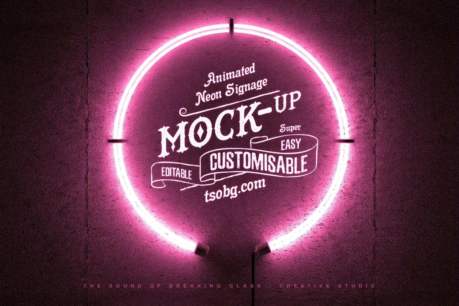Neon Ring Animated Logo Mockup