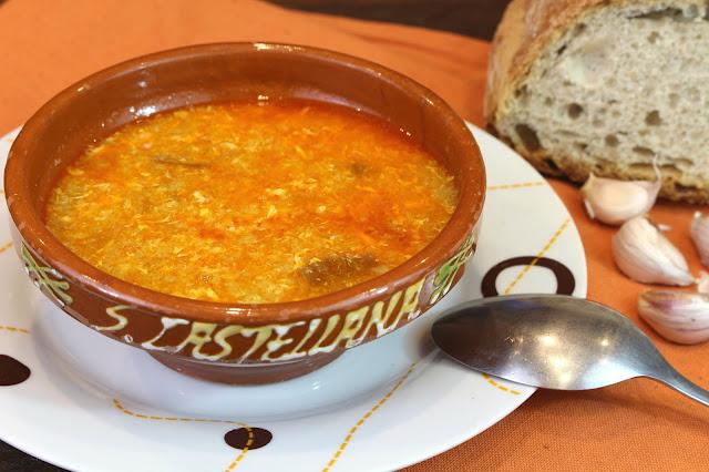 Sopa de ajo o sopa castellana con Thermomix