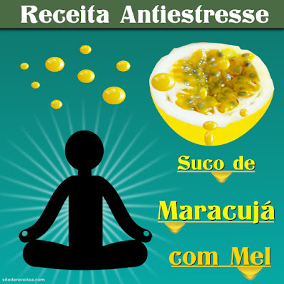 Antiestresse: Suco de maracujá com mel