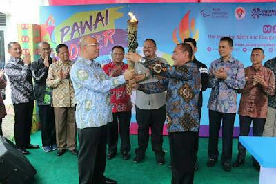 Sambut Obor Asian Para Games 2018 di Medan