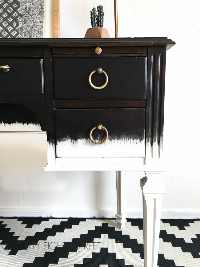 Furniture Tutorials Refinishing Painting Black Painted White