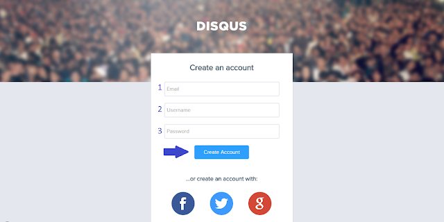 Sign-Up ke Disqus