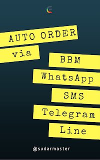 Auto Order via BBM, WhatsApp, SMS, Telegram, Line