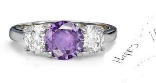 nhẫn đá sapphire tím