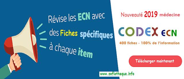 Télécharger 400 Fiches Codex [TOP] Résumés ECN 2019 PDF gratuits