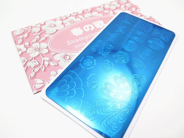 Watermarble image stamping plate Harunouta L005