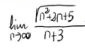 18. Límite de una sucesión cociente de una raíz y un polinomio