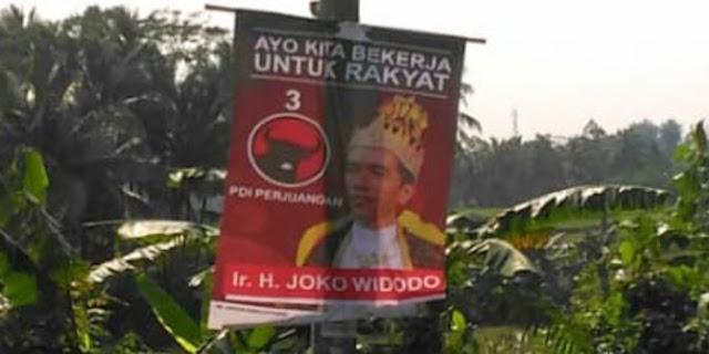 PDIP: Poster 'Jokowi Raja' Jurus Baru Black Campaign
