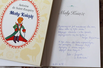 książka z dedykacją na Komunię Świętą
