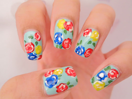 Rose Garden Nail Art | chichicho~ nail art addicts