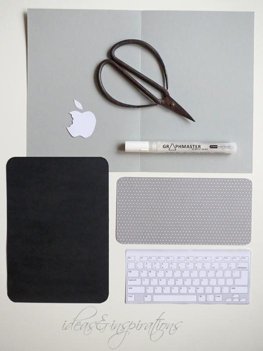 DIY Laptop Karte basteln