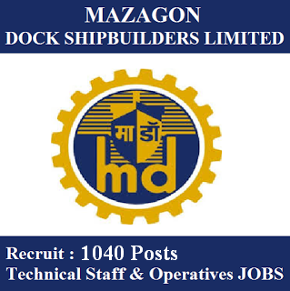 10th, freejobalert, ITI, Latest Jobs, Maharashtra, Mazagon Dock Limited, MDL, Operatives, Sarkari Naukri, Technical Staff, Skilled Semi Skilled Grade,