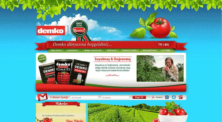 Türkiye'deki domates salçası ve biber salçası üreticileri ve ihracatçıları.-Demko Firması