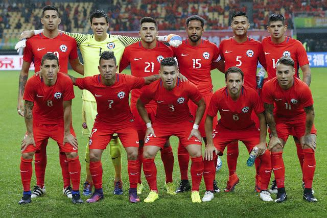 Formación de Chile ante Croacia, China Cup 2017, 11 de enero