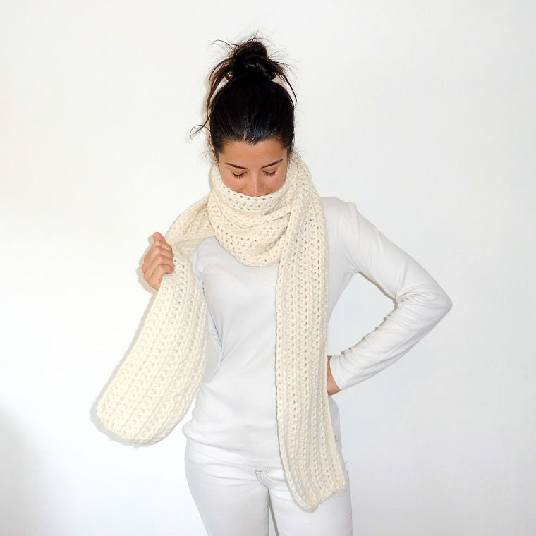 PUNTXET Bufanda larga de ganchillo #crochet #ganchillo #knit #punto #handmade #etsy