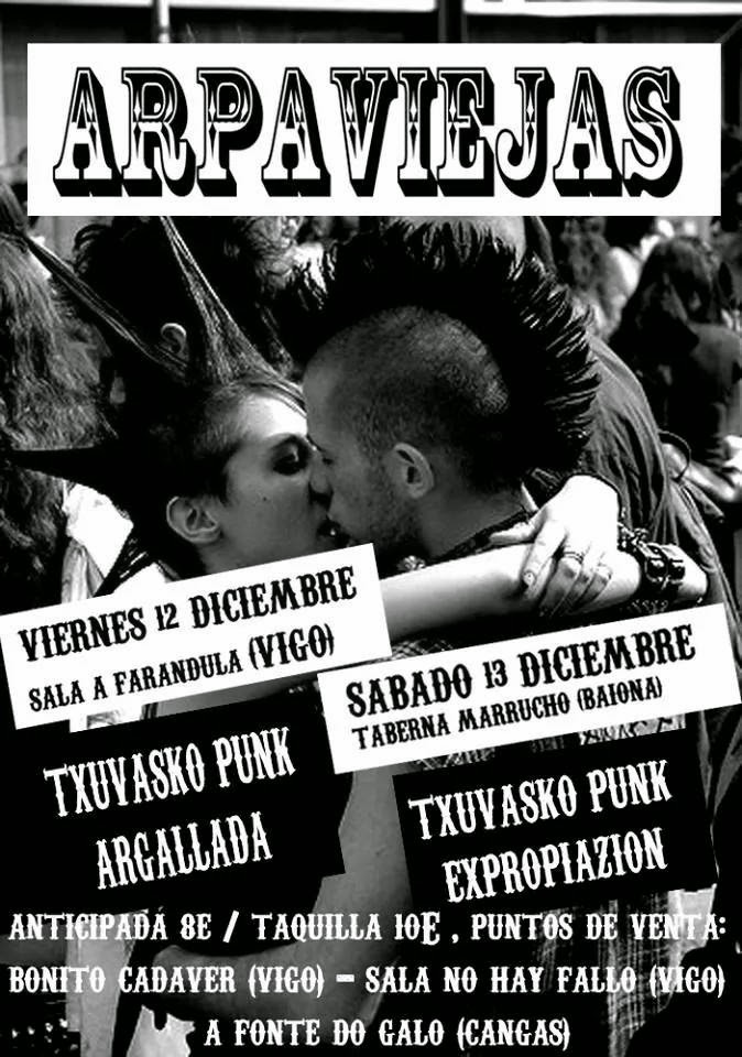 Concierto Arpaviejas en Vigo