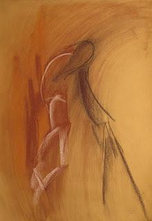 208 - ©Edith Smets -  Couple de tango 35/50 pastel