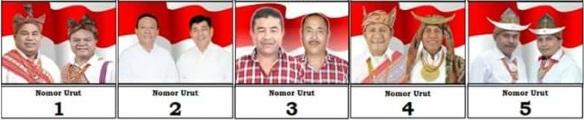 Lima pasang calon Bupati dan wakil Bupati Kabupaten Kupang 2018