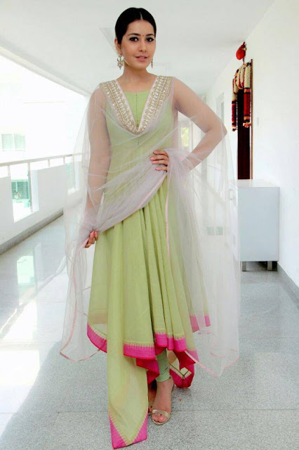 Rashi Khanna in Latest Trendy Green Dress