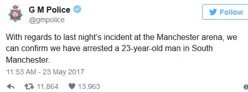 Manchester Terror arrested
