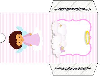 Brunette Angel Girl, Free Printable CD Case.