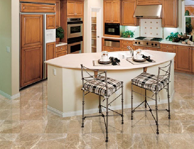 Kitchen Flooring with Marblet Tiles