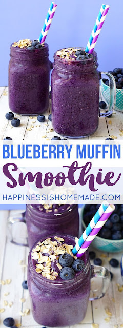 HEALTHY BLUEBERRY MUFFIN SMOOTHIE RECIPE