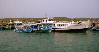 Barche da pesca a Isola di Phu Quoc in Vietnam
