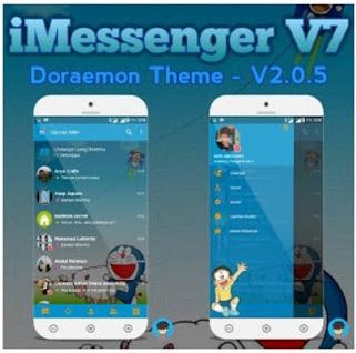 BBM Mod iMessenger V7 ~ Tema Doraemon
