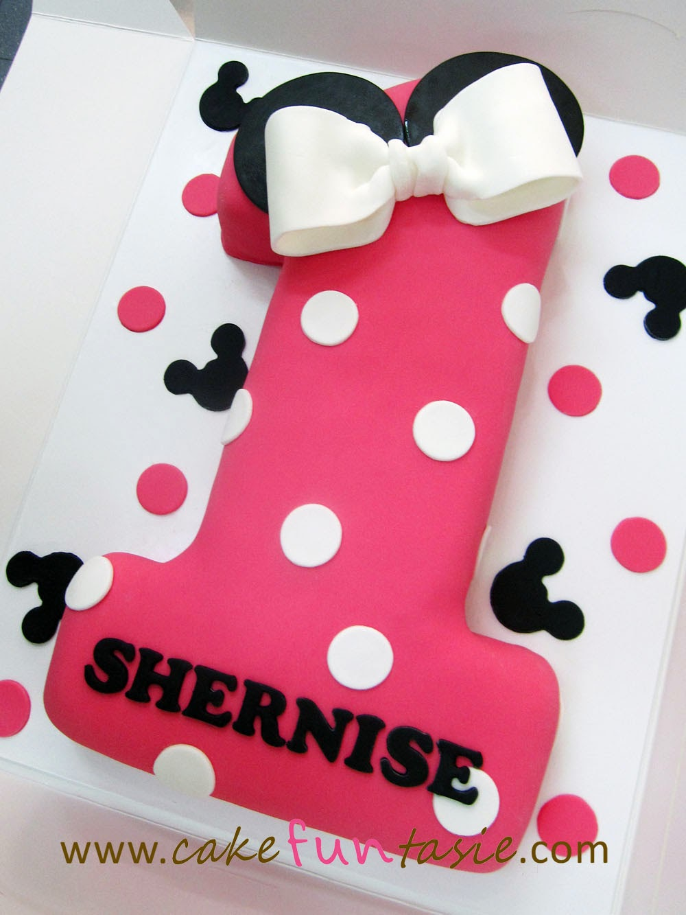 Cake Funtasie Number 1 Minnie Themed Cake