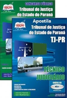 Apostila pdf TJ PR 2017 Técnico Judiciário - Impressa com Vídeo-aula