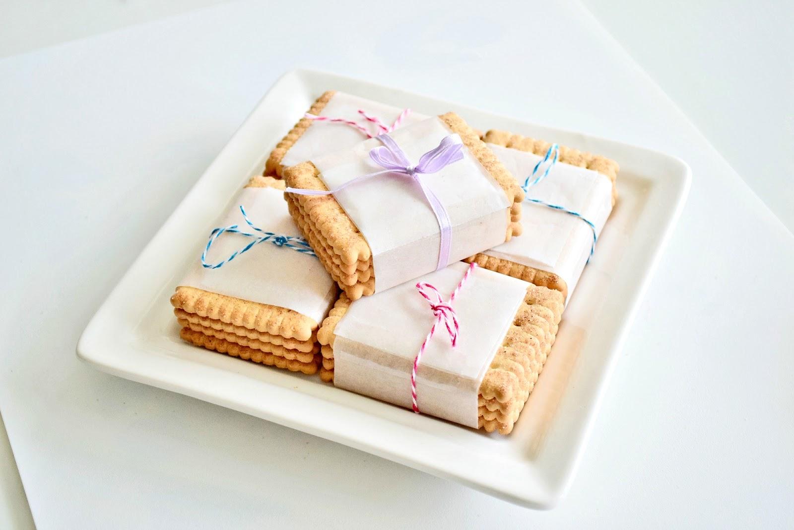 ładnie zapakowane ciastka