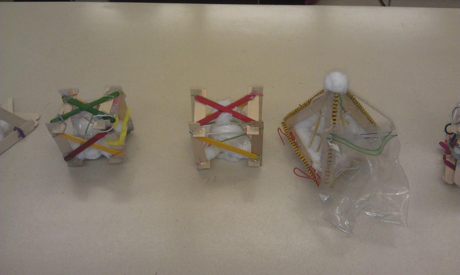 Egg Drop Project  Straws  Craft Sticks